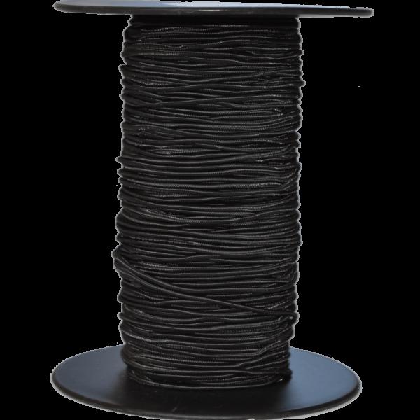 Gummiseil 2 mm, schwarz