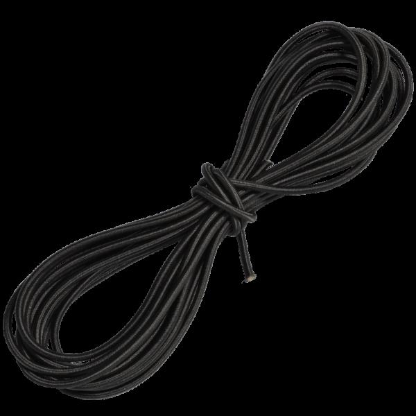 Gummiseil 3 mm, 10 m, schwarz
