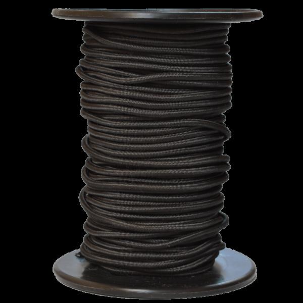 Gummiseil 4 mm, schwarz