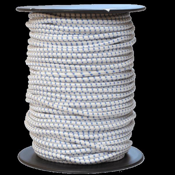 Gummiseil 3 mm weiß-blau