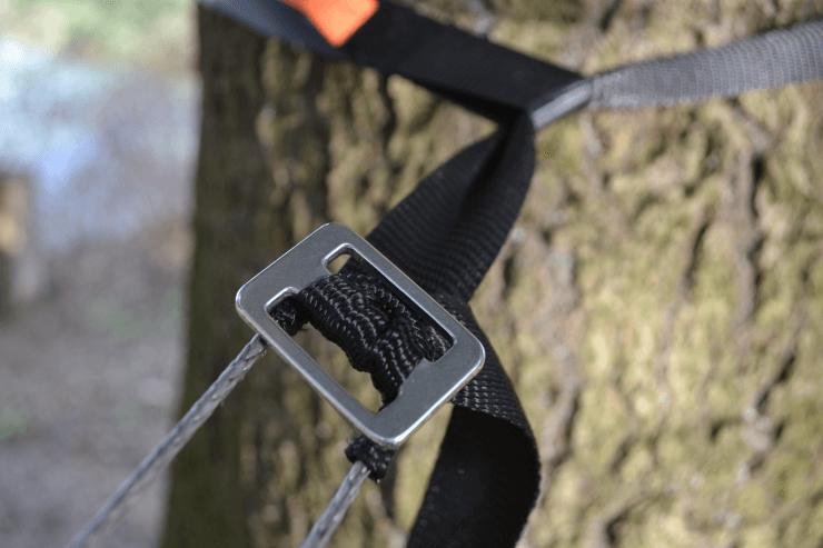 Baumgurt RANZAU mit Dreisteg (Leiterschnalle) aus einer Aluminium/Titan-Legierung zur Hängematten Befestigung mit unserer Whoopie Sling REETZE - Made in Germany