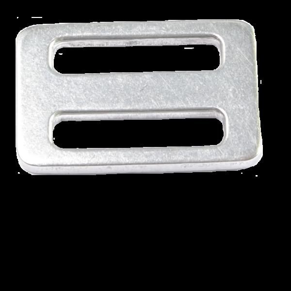 Dreisteg (Leiterschnalle) aus einer Aluminium/Titan-Legierung von unserem Baumgurt RANZAU zur Hängematten Befestigung - Made in Germany