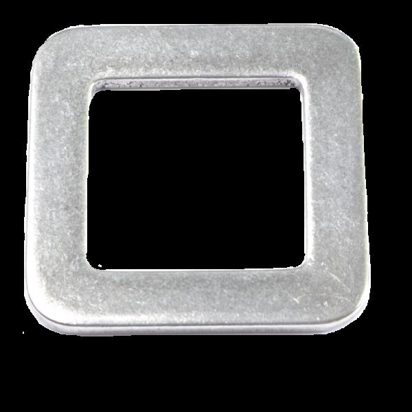 Leichte Flachschnalle aus einer Aluminium/Titan-Legierung von unserem Baumgurt RANZAU zur Hängematten Befestigung - Made in Germany