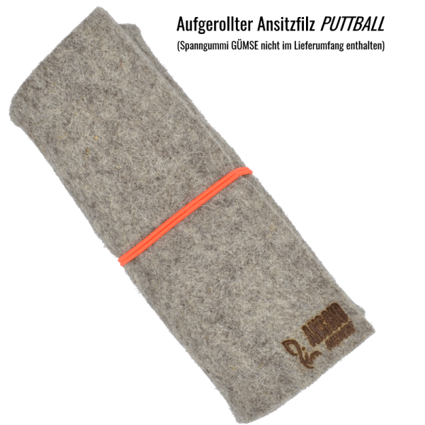 Ansitzfilz, Sitzkissen aus 100 % natürlichem Wollfilz von heimischen Schafen. Absolut geräuschlos, schalldämmend schmutz- und wasserabweisend und isolierend - Made in Germany